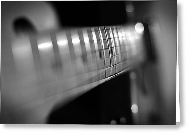 Rock N Roll Greeting Cards - Fender Fret Greeting Card by Mark Rogan
