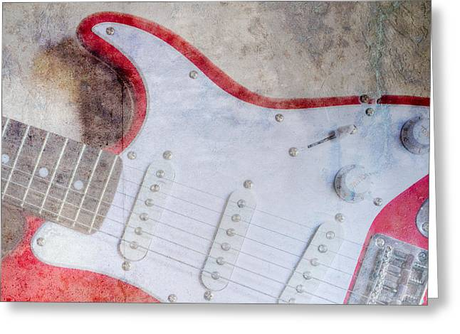 Enthusiastic Greeting Cards - Fender II Greeting Card by Heidi Smith
