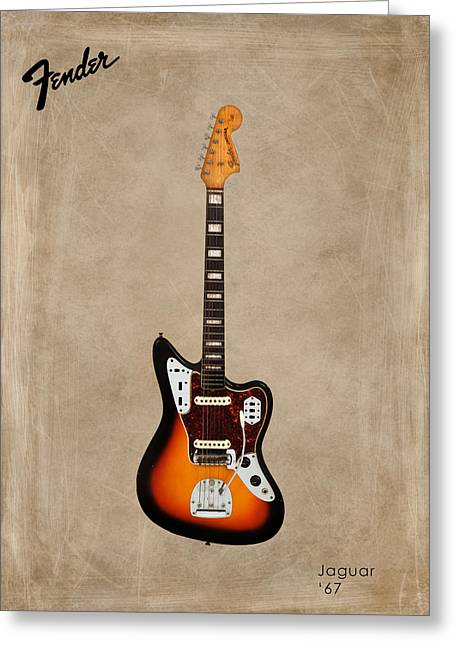Rock N Roll Photographs Greeting Cards - Fender Jaguar 67 Greeting Card by Mark Rogan