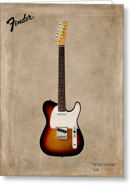 Rock N Roll Photographs Greeting Cards - Fender Telecaster 64 Greeting Card by Mark Rogan
