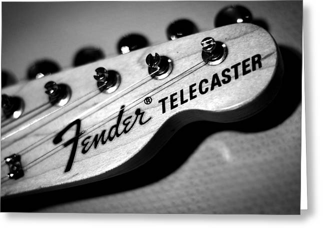 Rock N Roll Greeting Cards - Fender Telecaster Greeting Card by Mark Rogan