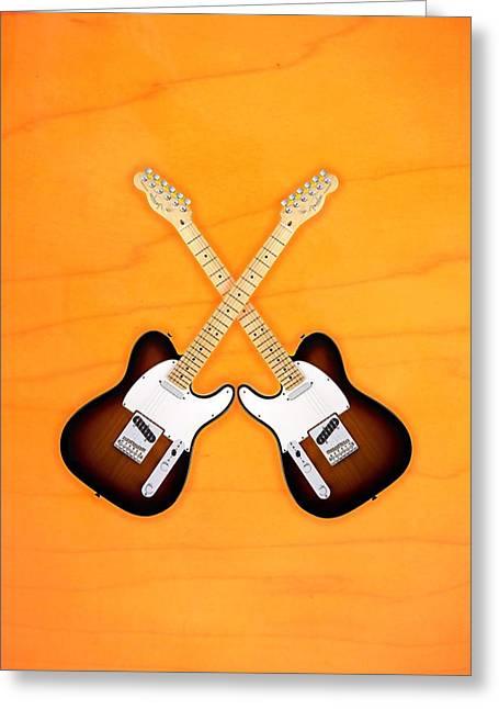 Fender Telecaster Sunburst Greeting Card by Doron Mafdoos