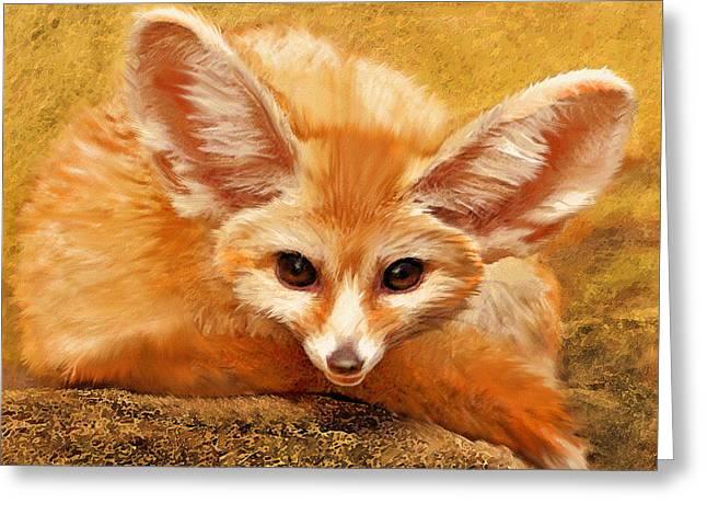Fennec Fox Greeting Card by Jane Schnetlage