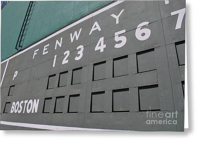Fenway Park Greeting Cards - FenWall Greeting Card by Nate HubPhotos
