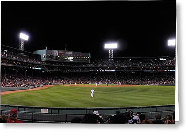 Boston Red Sox Greeting Cards - Fenway Greeting Card by Bob Stone