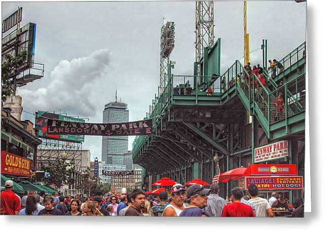 American Pastime Photographs Greeting Cards - Fenway Bustle Greeting Card by Joann Vitali