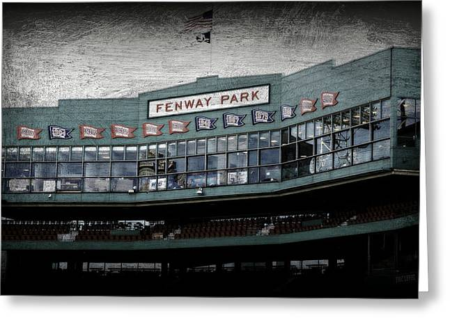 Press Box Greeting Cards - Fenway Memories - 1 Greeting Card by Stephen Stookey