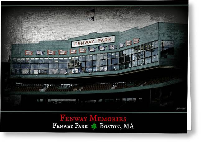 Boston Red Sox Poster Greeting Cards - Fenway Memories - Clover Edition Greeting Card by Stephen Stookey