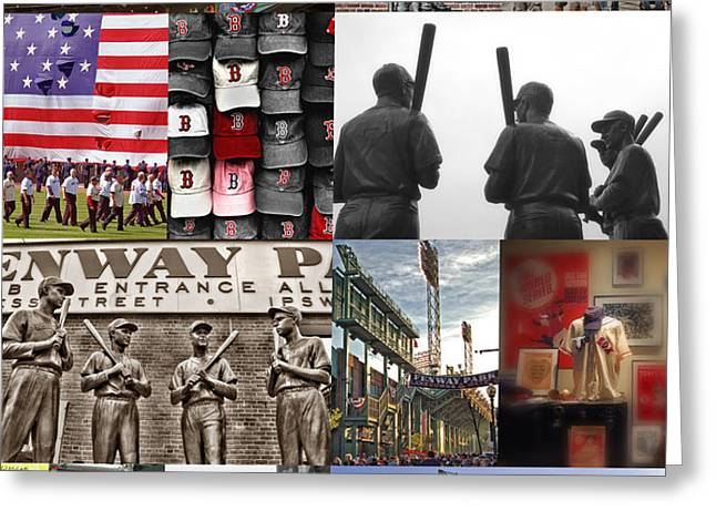 Fenway Memories Greeting Card by Joann Vitali