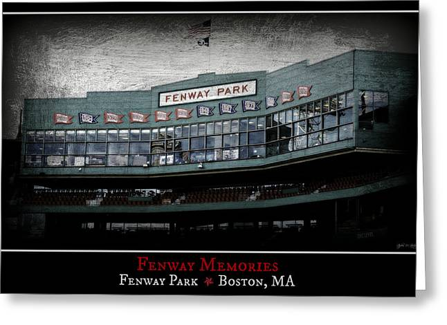 Press Box Greeting Cards - Fenway Memories - Poster 1 Greeting Card by Stephen Stookey