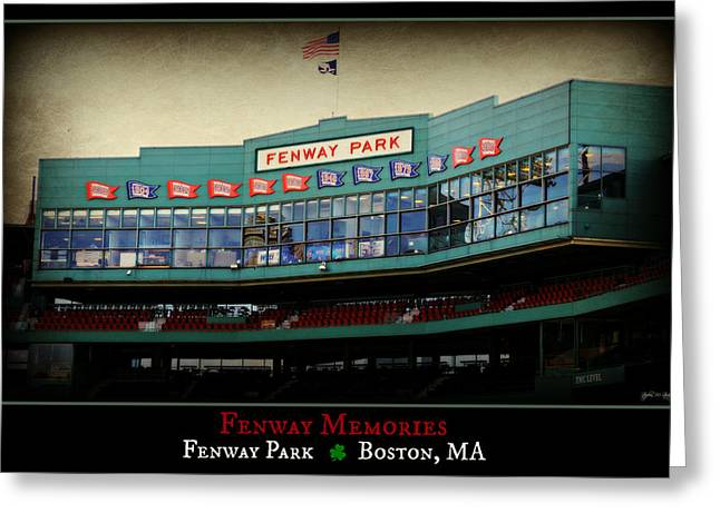Press Box Greeting Cards - Fenway Memories - Poster 2 Greeting Card by Stephen Stookey