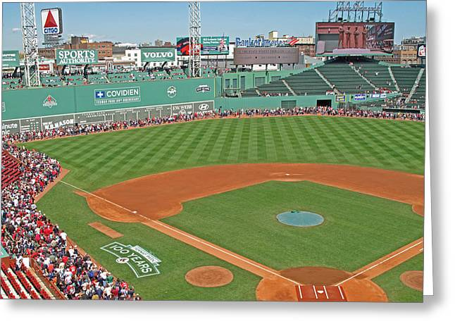 Fenway One Hundred Years Greeting Card by Barbara McDevitt