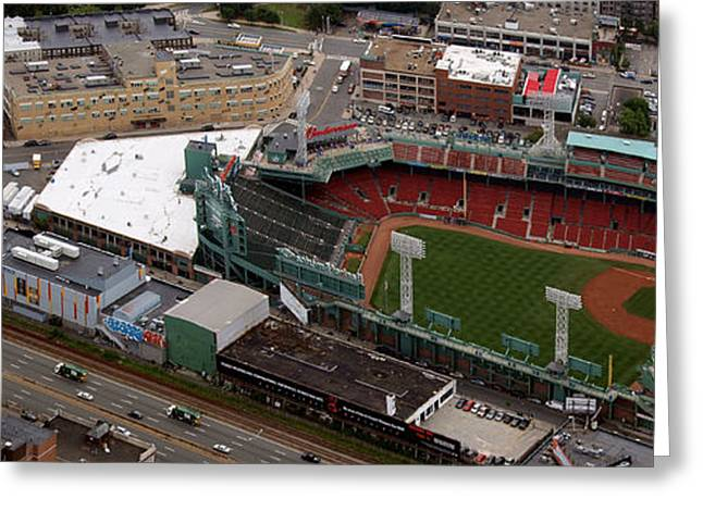 Boston Red Sox Greeting Cards - Fenway Panorama Greeting Card by Joshua House