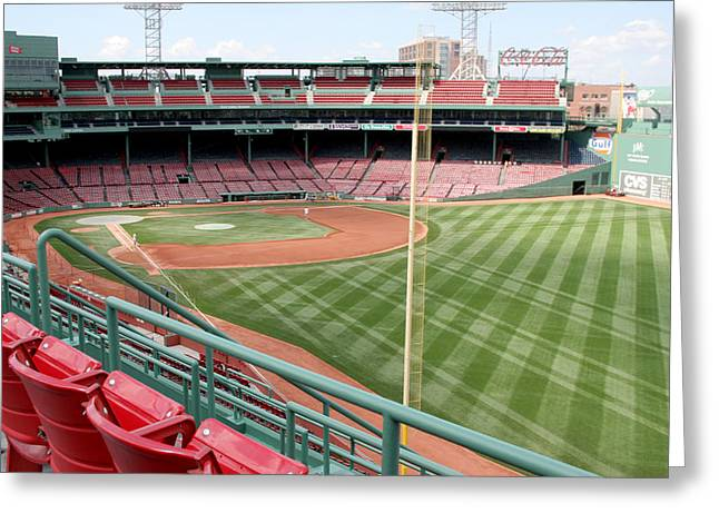 Lengendary Greeting Cards - Fenway Park 1 Greeting Card by Kathy Hutchins