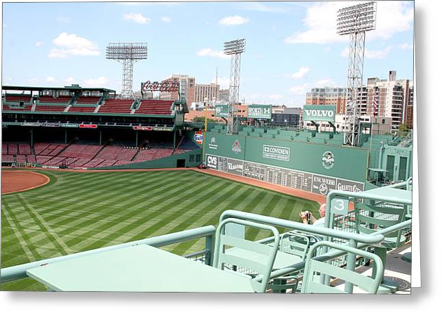 Lengendary Greeting Cards - Fenway Park 10 Greeting Card by Kathy Hutchins