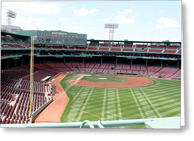Lengendary Greeting Cards - Fenway Park 2 Greeting Card by Kathy Hutchins