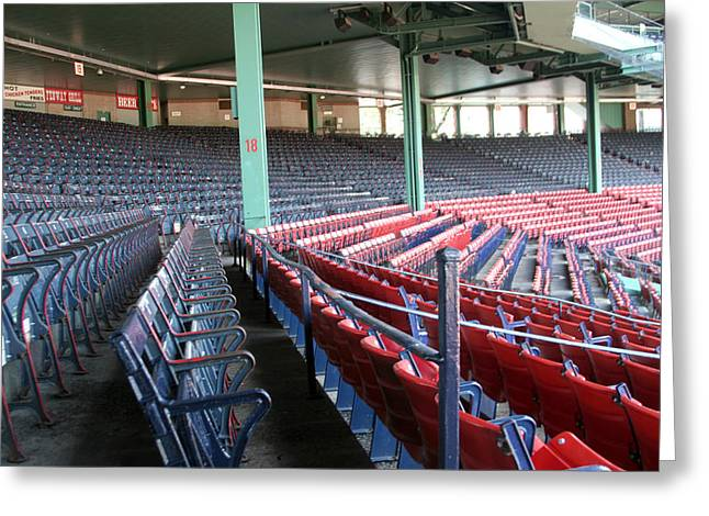 Lengendary Greeting Cards - Fenway Park 3 Greeting Card by Kathy Hutchins