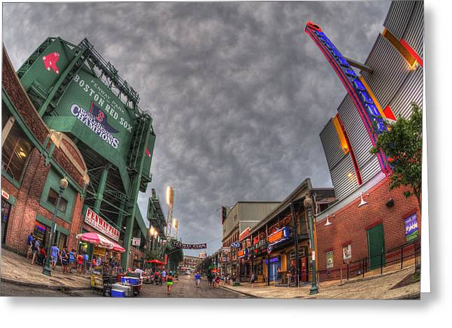 Urban Sport Greeting Cards - Fenway Park 4 Greeting Card by Joann Vitali