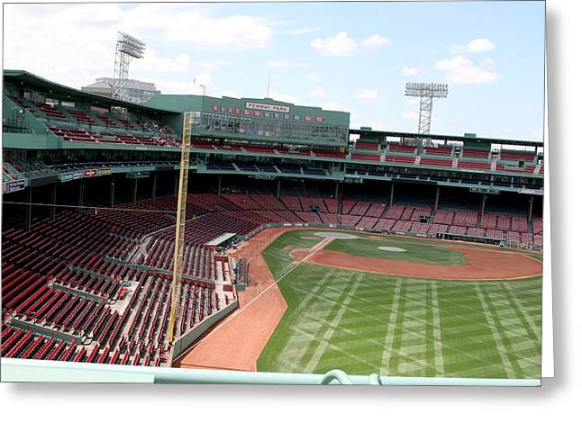 Lengendary Greeting Cards - Fenway Park 6 Greeting Card by Kathy Hutchins