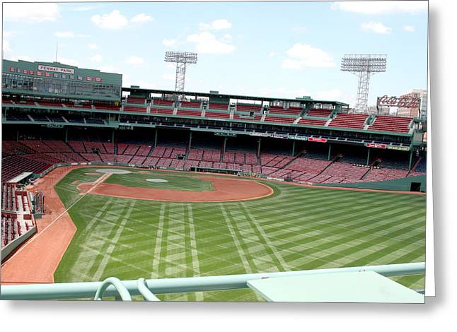 Baseball Stadiums Greeting Cards - Fenway Park 7 Greeting Card by Kathy Hutchins