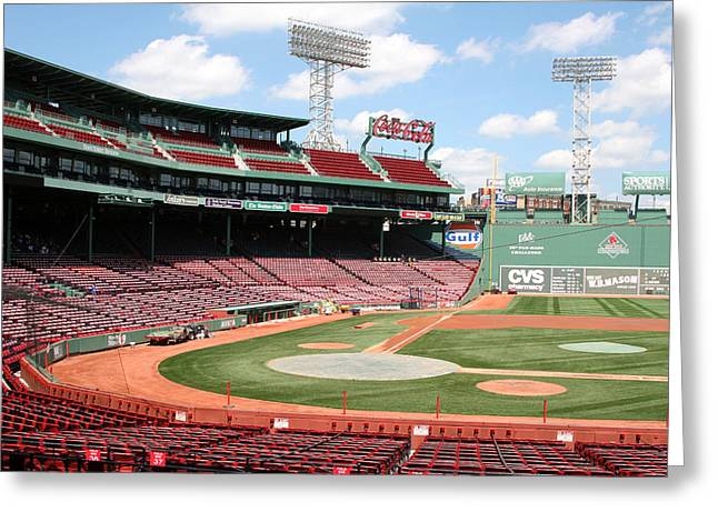 Lengendary Greeting Cards - Fenway Park 8 Greeting Card by Kathy Hutchins