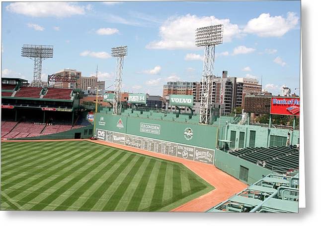 Lengendary Greeting Cards - Fenway Park 9 Greeting Card by Kathy Hutchins