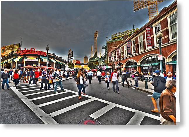 Flagon Greeting Cards - Fenway Park and Cask and Flagon Greeting Card by Toby McGuire