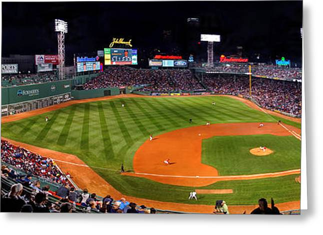 Boston Red Sox Greeting Cards - Fenway Park Boston Greeting Card by Jeff Stallard