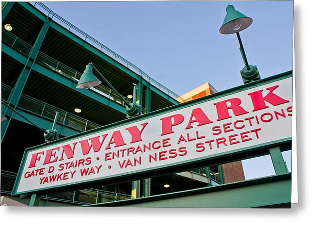 America Pastime Greeting Cards - Fenway Park Boston Greeting Card by John McGraw