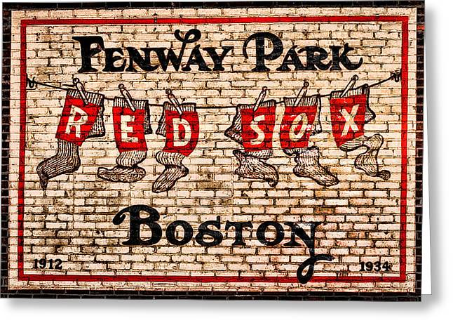 Bill Cannon Greeting Cards - Fenway Park Boston Redsox Sign Greeting Card by Bill Cannon
