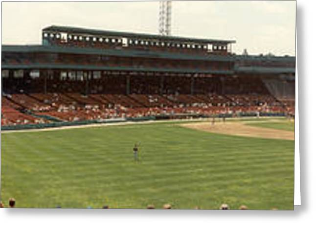Fenway Park Greeting Cards - Fenway Park - Early Version Greeting Card by David Bearden
