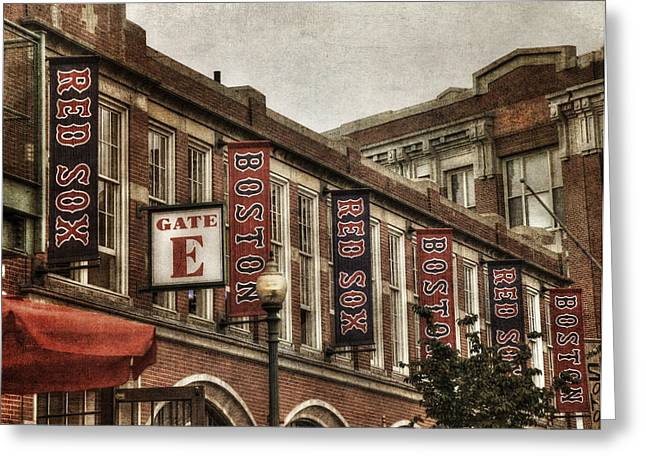 Boston Red Sox Greeting Cards - Fenway Park Exterior - Boston Greeting Card by Joann Vitali