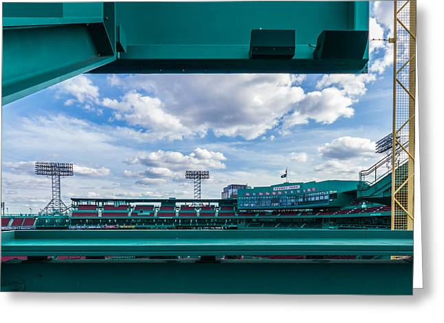 Game 6 Greeting Cards - Fenway Park from the Green Monster Greeting Card by Tom Gort