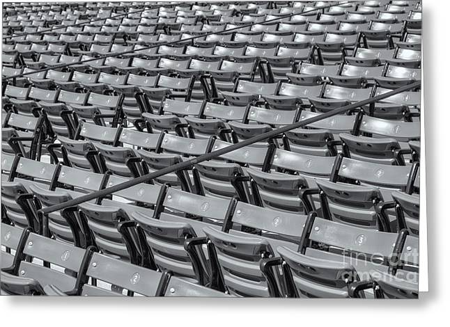 Grandstands Greeting Cards - Fenway Park Grandstand Seats II Greeting Card by Clarence Holmes