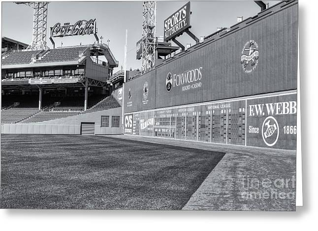 Red Sox Nation Greeting Cards - Fenway Park Green Monster II Greeting Card by Clarence Holmes