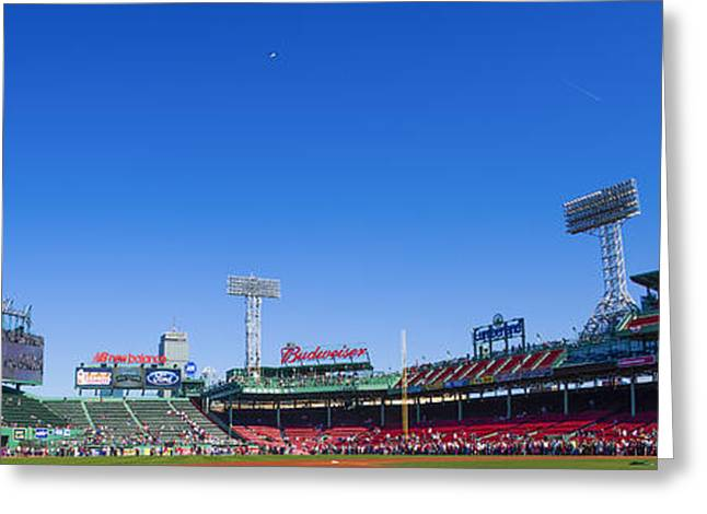 Baseball Stadiums Greeting Cards - Fenway Park- Home of the Boston Red Sox Greeting Card by Diane Diederich