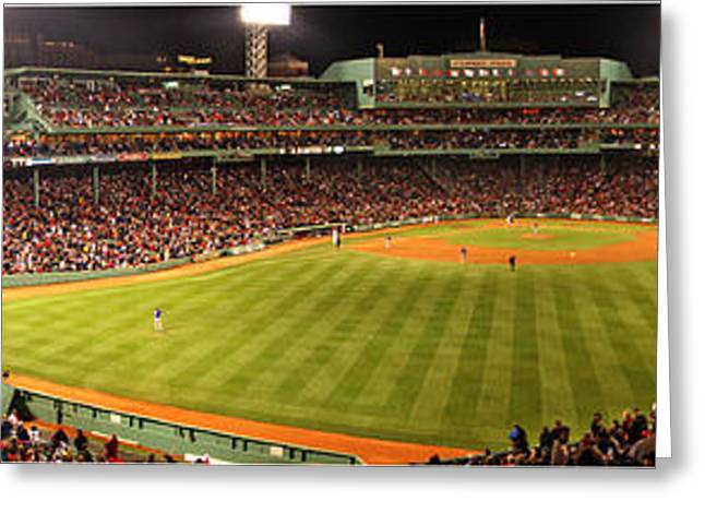 Boston Red Sox Greeting Cards - Fenway Park Greeting Card by James F Towne