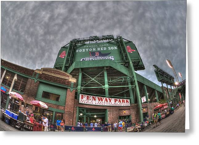 Boston Sports Greeting Cards - Fenway Park Greeting Card by Joann Vitali
