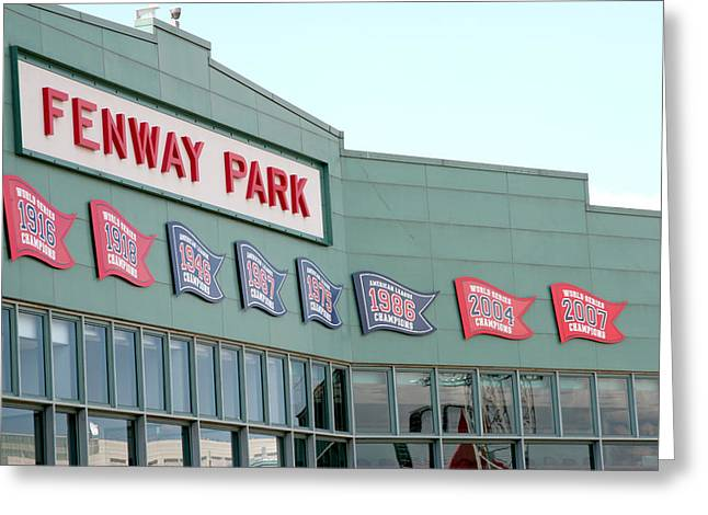 Lengendary Greeting Cards - Fenway Park Greeting Card by Kathy Hutchins