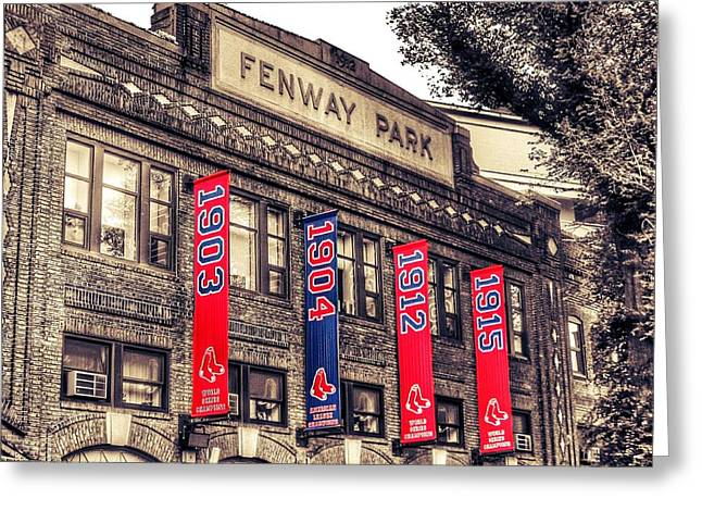 Fenway Park Greeting Cards - Fenway Park Greeting Card by SoxyGal Photography