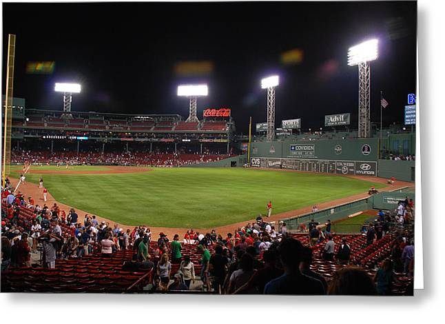 Fenway Park Greeting Card by Mark Wiley