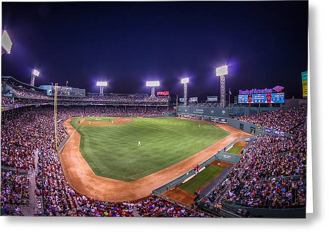 Fenway Park Greeting Cards - Fenway Park - Boston Greeting Card by Monsoon Photo
