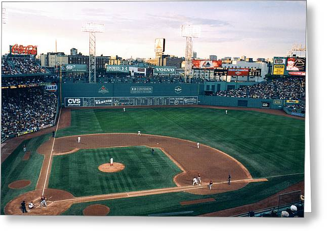 Boston Red Sox Greeting Cards - Fenway Park Photo - Inside View Greeting Card by Horsch Gallery