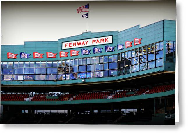 Carl Yastrzemski Greeting Cards - Fenway Park Greeting Card by Stephen Stookey
