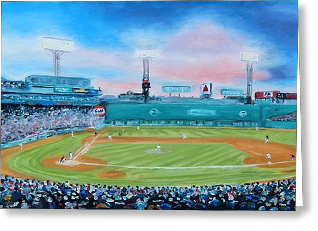 Boston Red Sox Greeting Cards - Fenway Park Greeting Card by Sue Birkenshaw
