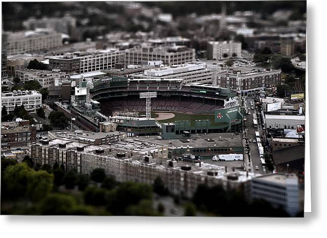 Baseball Stadiums Greeting Cards - Fenway Park Greeting Card by Tim Perry