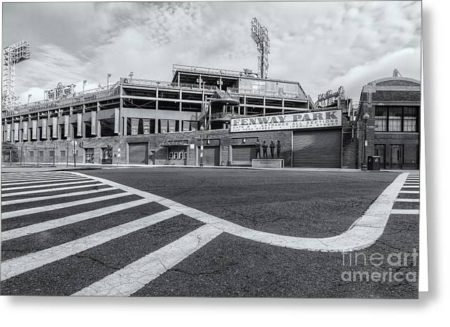 Crosswalk Greeting Cards - Fenway Park V Greeting Card by Clarence Holmes