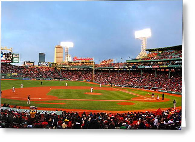 Best Sellers -  - Fenway Park Greeting Cards - Fenway Greeting Card by Stephen Bellingham