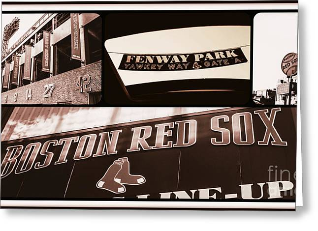 Boston Red Sox Greeting Cards - Fenway Park Views  Greeting Card by Alanna DPhoto
