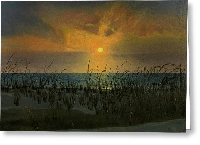 Surf City Greeting Cards - Fenwick Island Sunrise Greeting Card by Fred Paddock